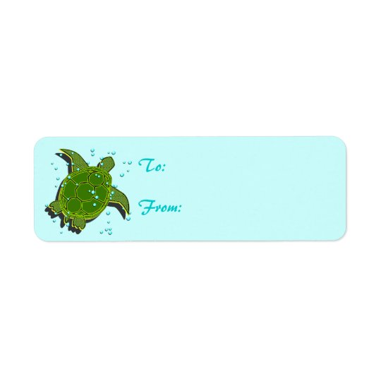 Sea Turtle Labels