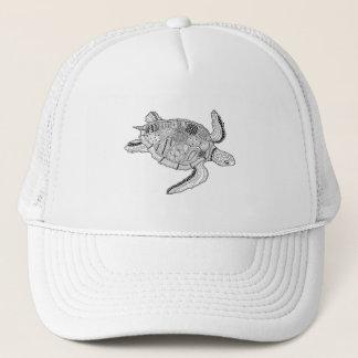 Sea Turtle Lineart Design Trucker Hat