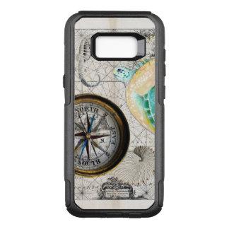 Sea turtle Map Beige OtterBox Commuter Samsung Galaxy S8+ Case