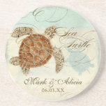 Sea Turtle Modern Coastal Ocean Beach Swirls Style
