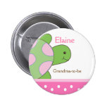 SEA TURTLE NAME TAG Personalised Button