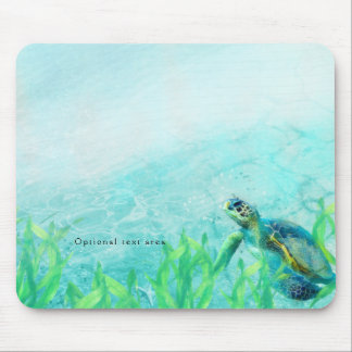 Sea Turtle Ocean Beach Art Tropical Custom Mouse Pad
