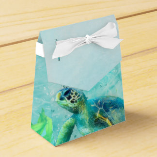 Sea Turtle Ocean Beach Tropical Custom Favor Favour Box