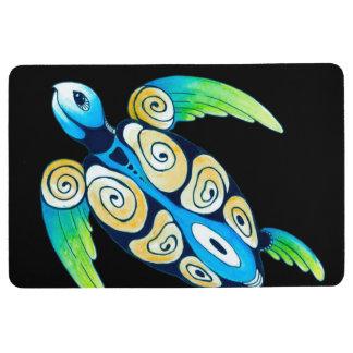 Sea Turtle On Black Floor Mat