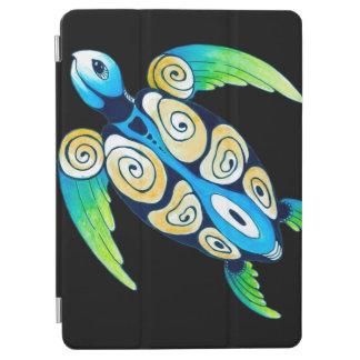 Sea Turtle On Black iPad Air Cover