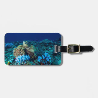 Sea Turtle on the Great Barrier Reef Luggage Tag