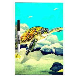 Sea Turtle Painting Beautiful Blue Sea Dry Erase Board