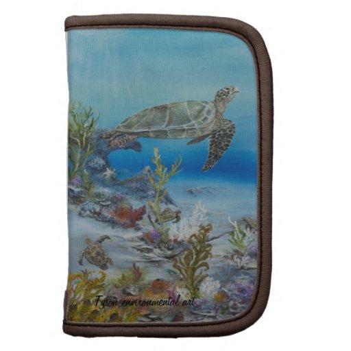 Sea turtle painting on organizer