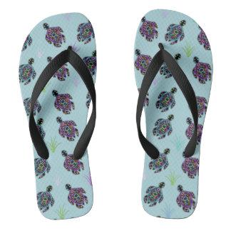 Sea Turtle Pattern Thongs