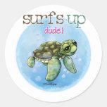 Sea Turtle Round Sticker