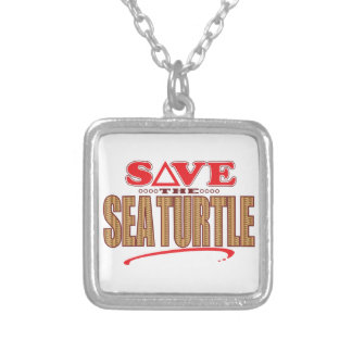 Sea Turtle Save Silver Plated Necklace