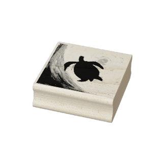 Sea Turtle Silhouette Rubber Stamp