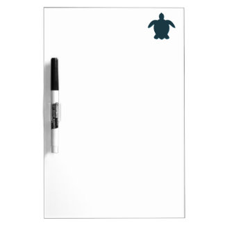 Sea Turtle Silhouette with shadow Dry Erase Board