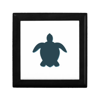 Sea Turtle Silhouette with shadow Gift Box
