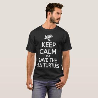 Sea Turtle T Shirt Keep Calm And Save Sea Turtles