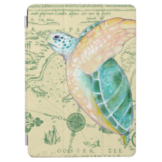 Sea Turtle Tan Map Vintage iPad Air Cover