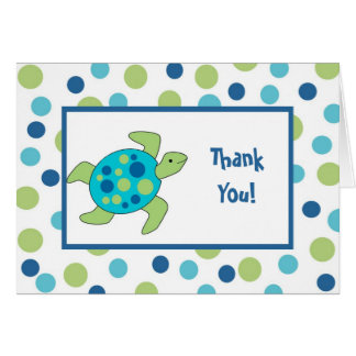 Sea Turtle Thank You Note Card