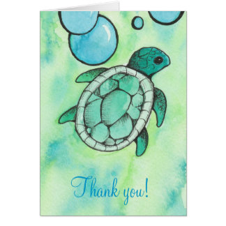 Sea Turtle Thank You Notes