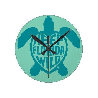 Sea Turtle Time Wall clock