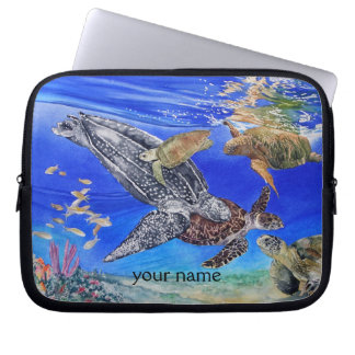 Sea Turtles Art Personalized Computer Sleeves