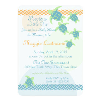 Sea Turtles Baby Shower Card