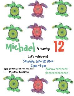 Sea turtle birthday invitations zazzle sea turtles birthday party invitation filmwisefo