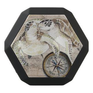 Sea Turtles Compass Map Black Bluetooth Speaker