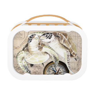 Sea Turtles Compass Map Lunch Box