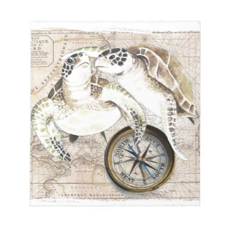 Sea Turtles Compass Map Notepad