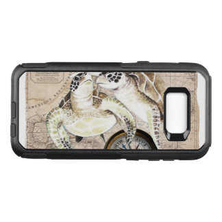 Sea Turtles Compass Map OtterBox Commuter Samsung Galaxy S8+ Case
