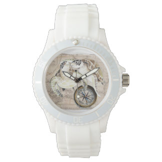 Sea Turtles Compass Map Watch