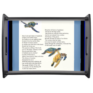 Sea Turtles Peace Poem Prayer Jesus Serving Tray