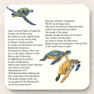 Sea Turtles Peace Poem Prayer Wildlife Coaster