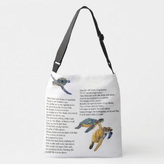 Sea Turtles Poem Prayer Peace Shoulder Tote Bag