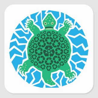 Sea Turtles, Recycling Sticker