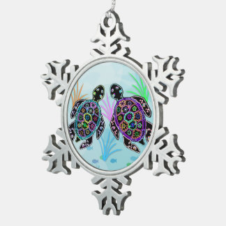 Sea Turtles Snowflake Ornament