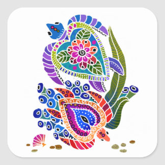 SEA TURTLES stickers -  customize background