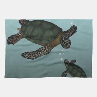 Sea Turtles Tea Towel