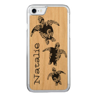 Sea Turtles with Name Carved iPhone 8/7 Case