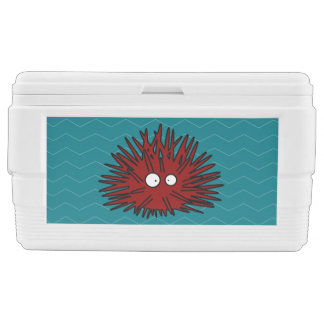 Sea Urchin Uni Spiny Red Hedgehog Ocean Chest Cooler
