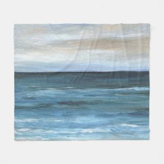 Sea View 266 blue ocean Fleece Blanket