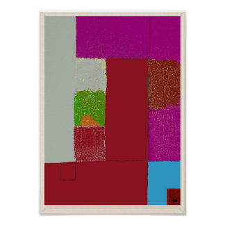 Sea View Abstract Expressionism Poster