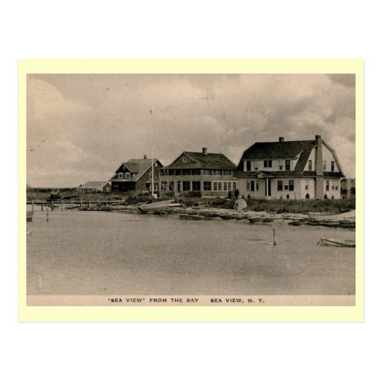 Sea View, Fire Island, New York Vintage Postcard