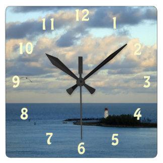 Sea View II Square Wall Clock