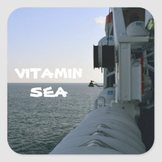 Sea Vitamin Square Sticker