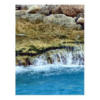 Sea Washed Rocks Postcard