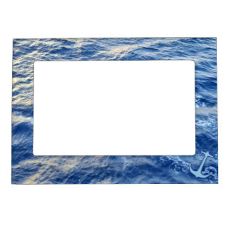 Sea Water Anchor Blue Magnetic Picture Frame