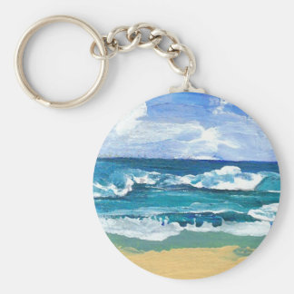 Sea Waves at Play - CricketDiane Ocean Art Key Ring