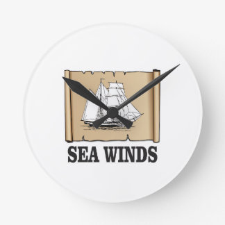 sea winds go wall clock
