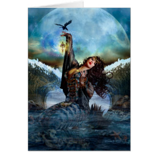 Sea Witch Digital Art Blank Note Card